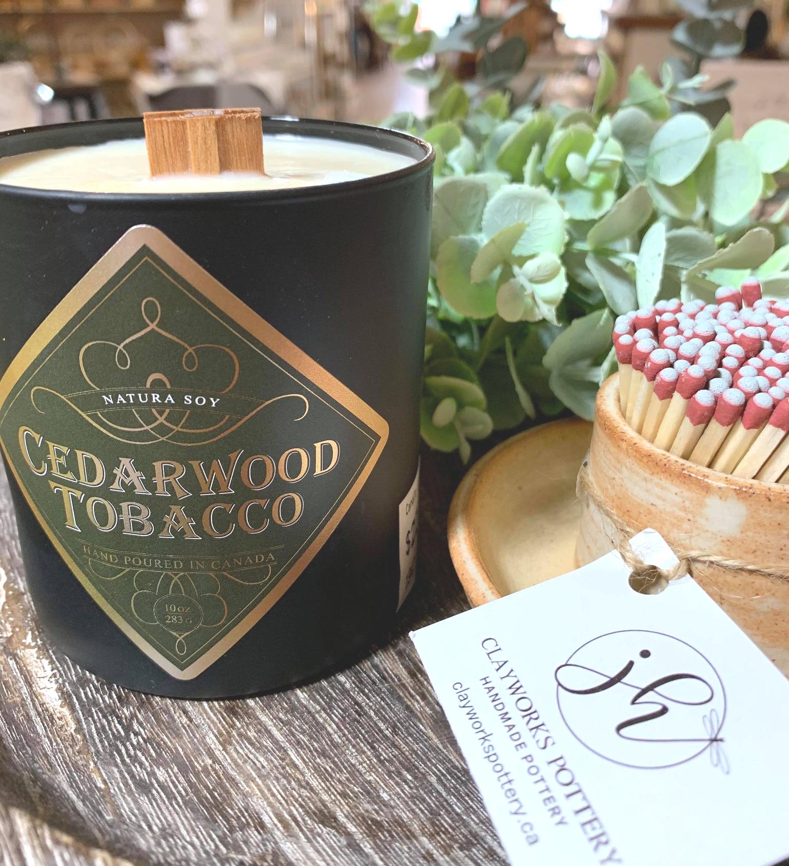 Cedarwood Tobacco Cedarwood, Tobacco, Patchouli and Amber.