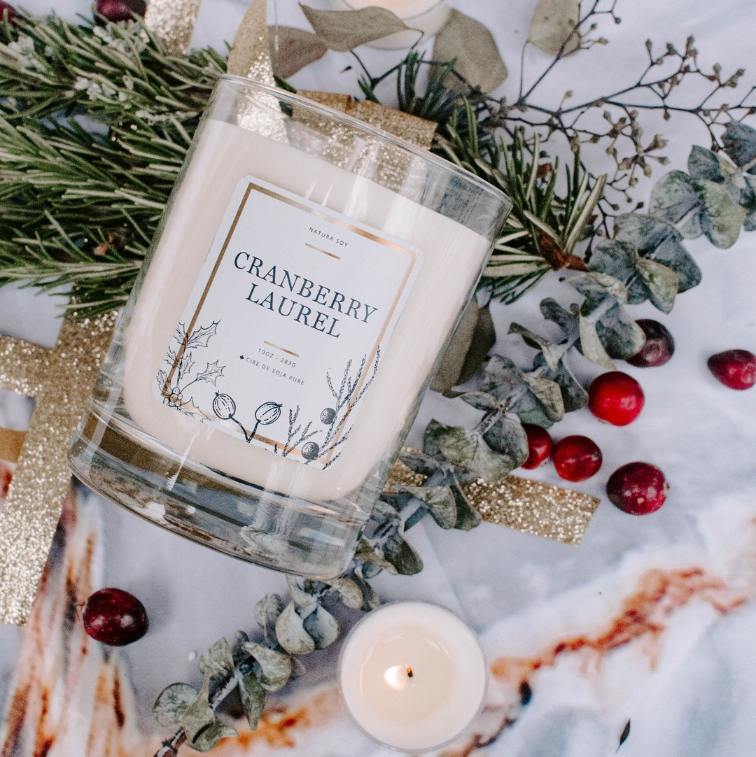Available December 2021 Cranberry Laurel Lemon & Orange with Fir Needle, Bay Leaf and Cedarwood