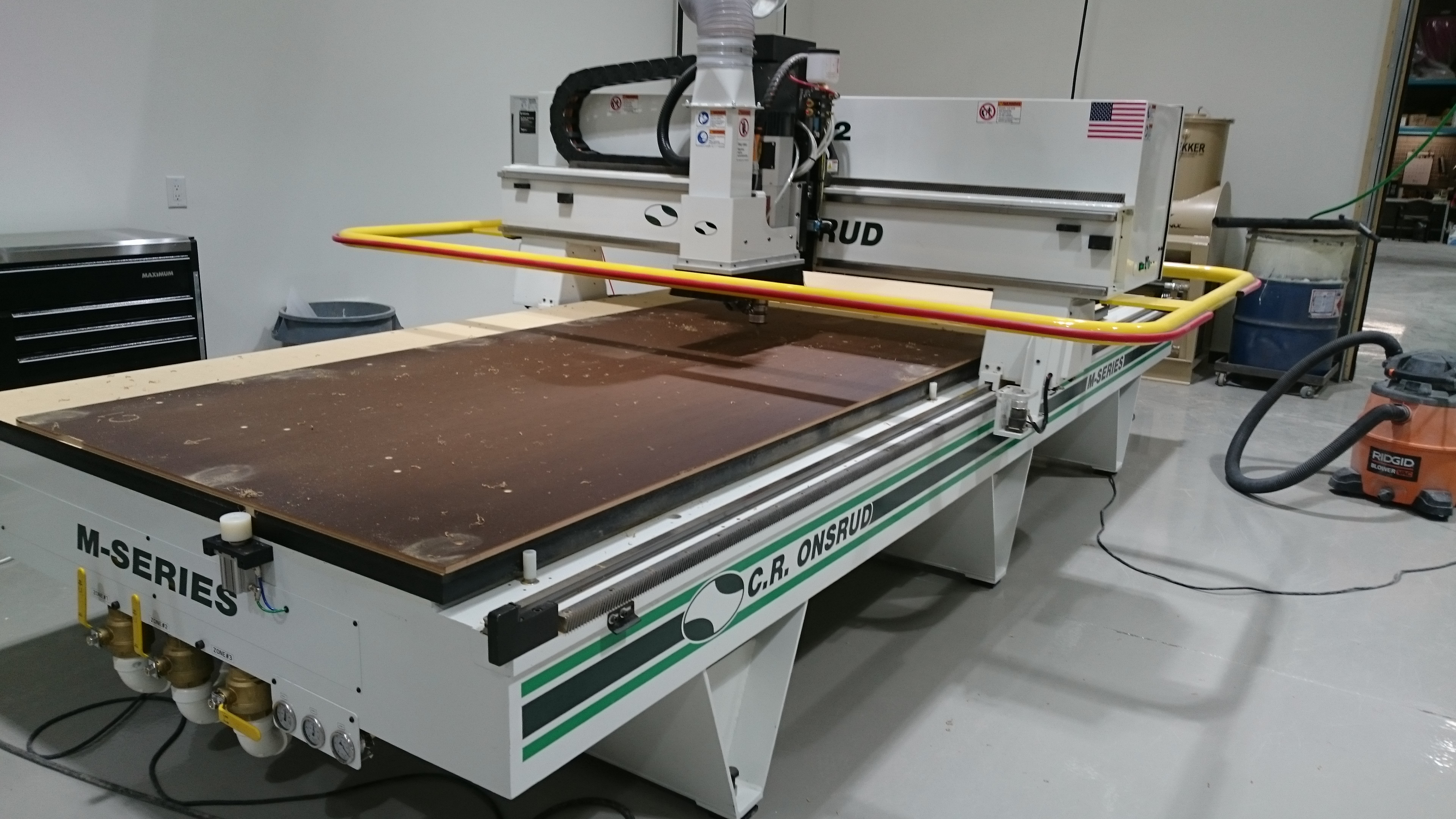 5' x 12' C.R Onsrud M-Series Router