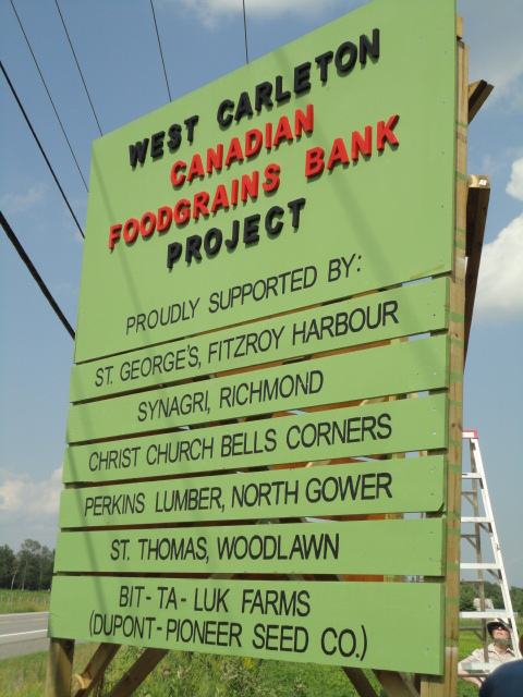 Foodgrains Bank sign
