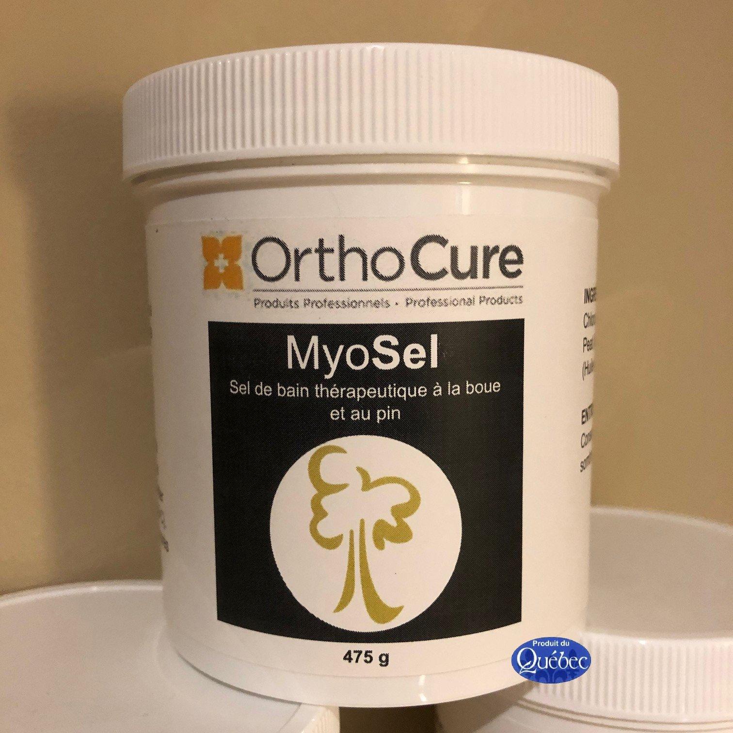 MyoSel 475 g (Bon pour 12 bains) Sel de bain thérapeutique à la boue et au pin 20.88$ plus taxes
