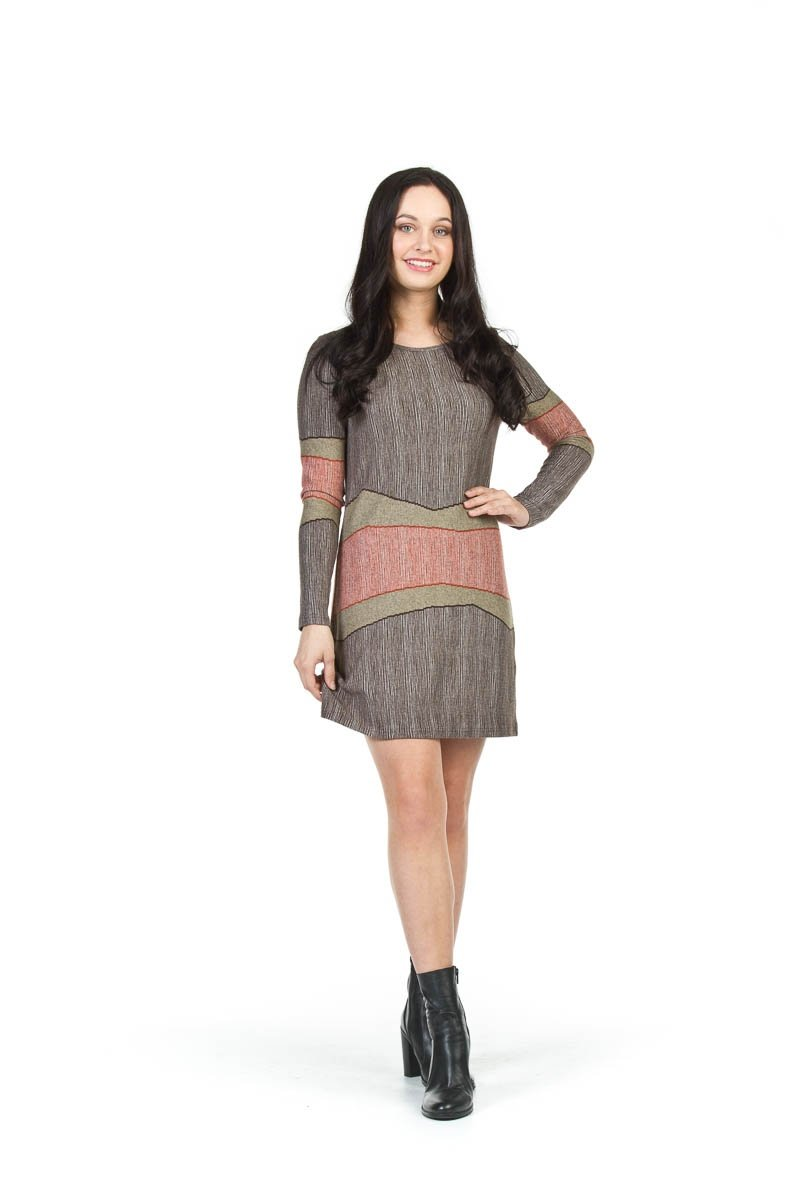 Multi Stripe Dress - $85.00 Flattering Design