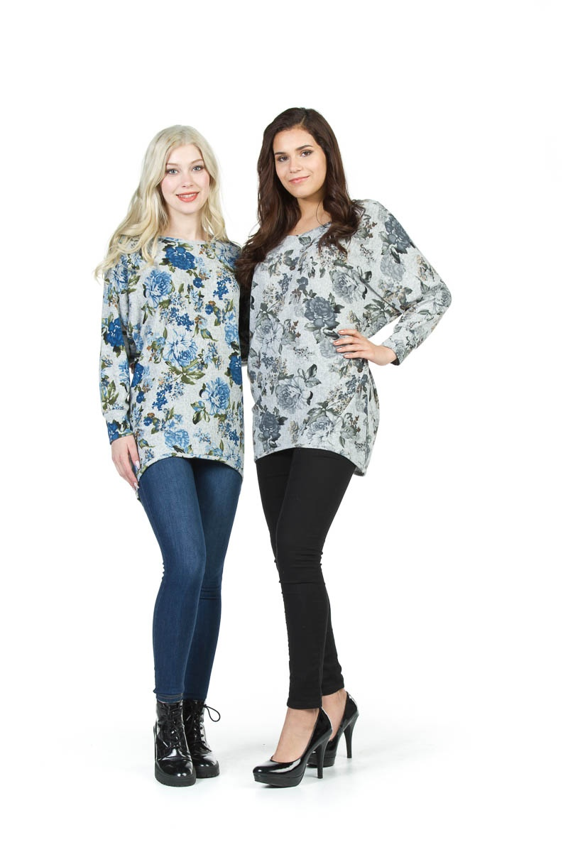 Floral Grey- $75.00 Batwing Design Not available in Blue