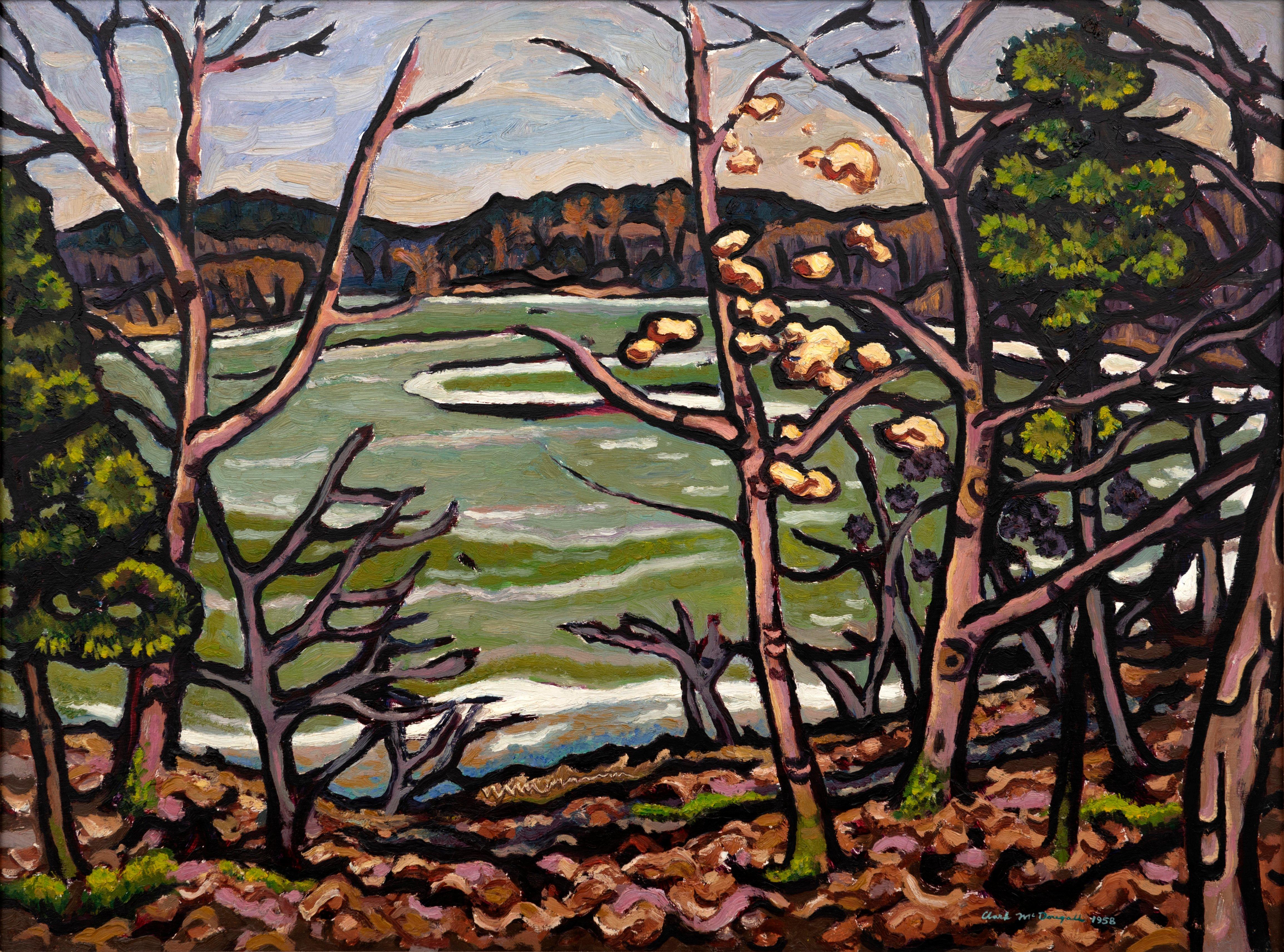 Artist: Clark McDougall, Above the Lookout Reservoir, 1958, Oil on panel
