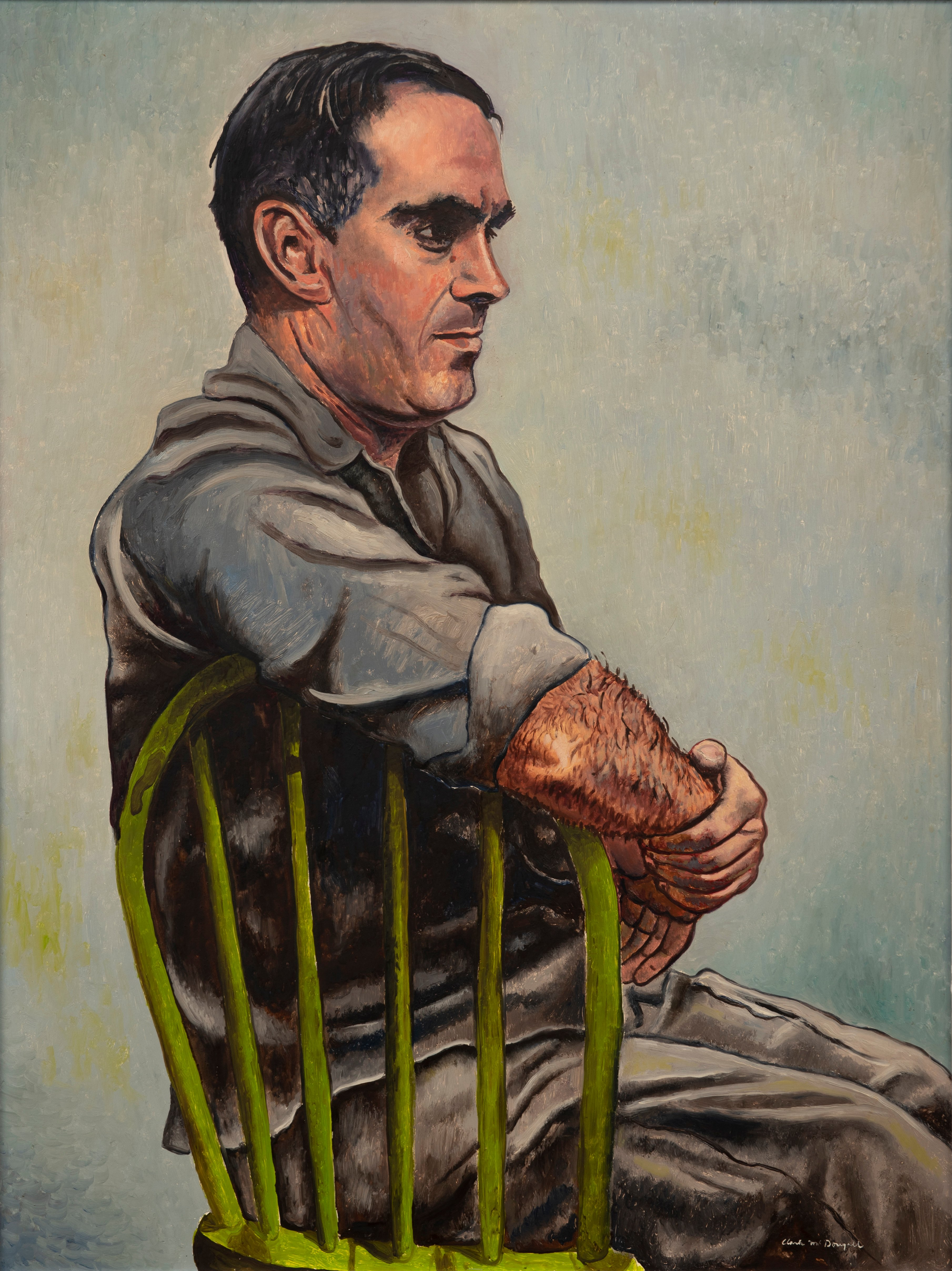 Artist: Clark McDougall, Portrait of George Thorman, 1953, Oil on panel