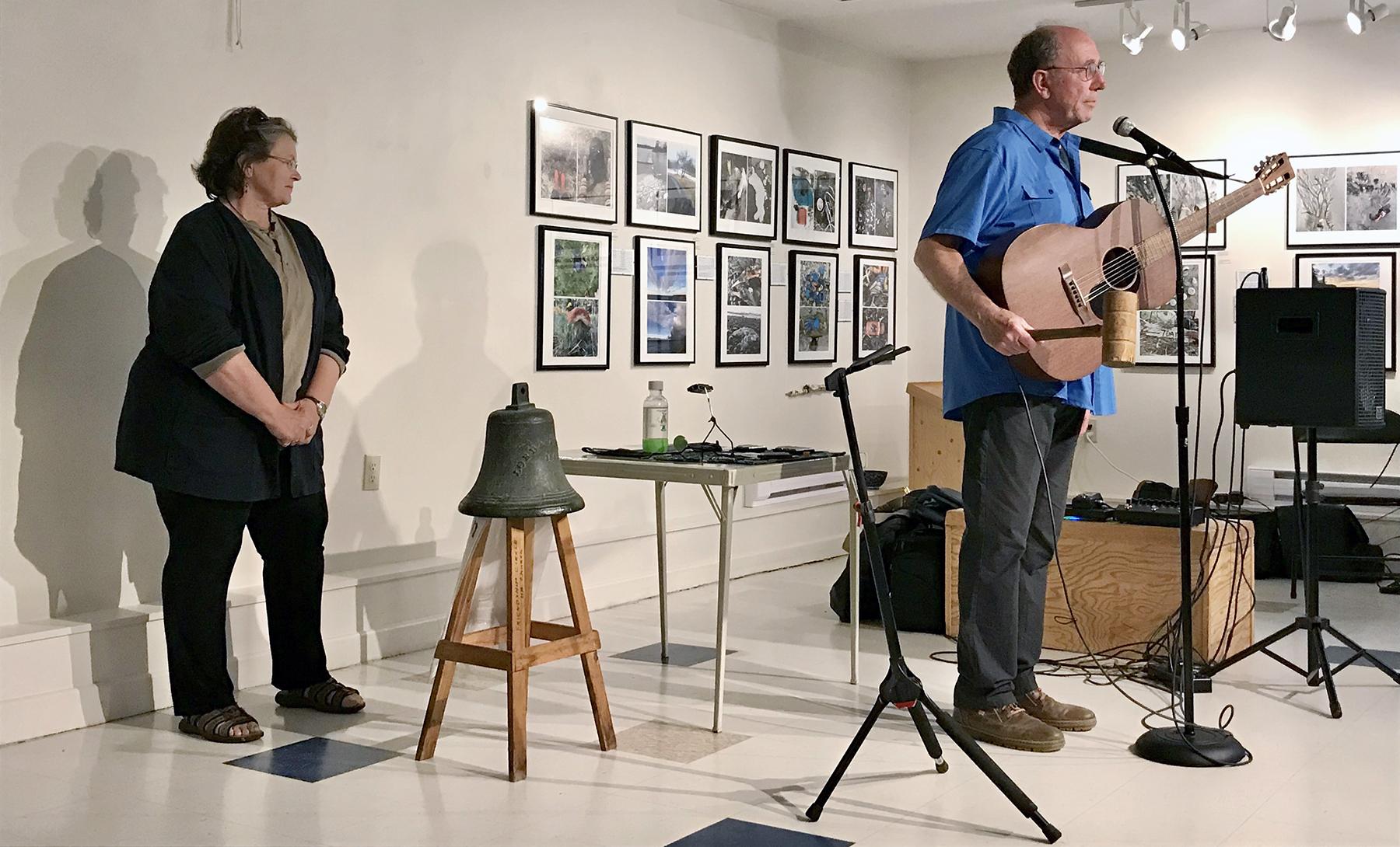 Former Board President Laurie Murison & Folk Singer Paul Lauzon, 2019.
