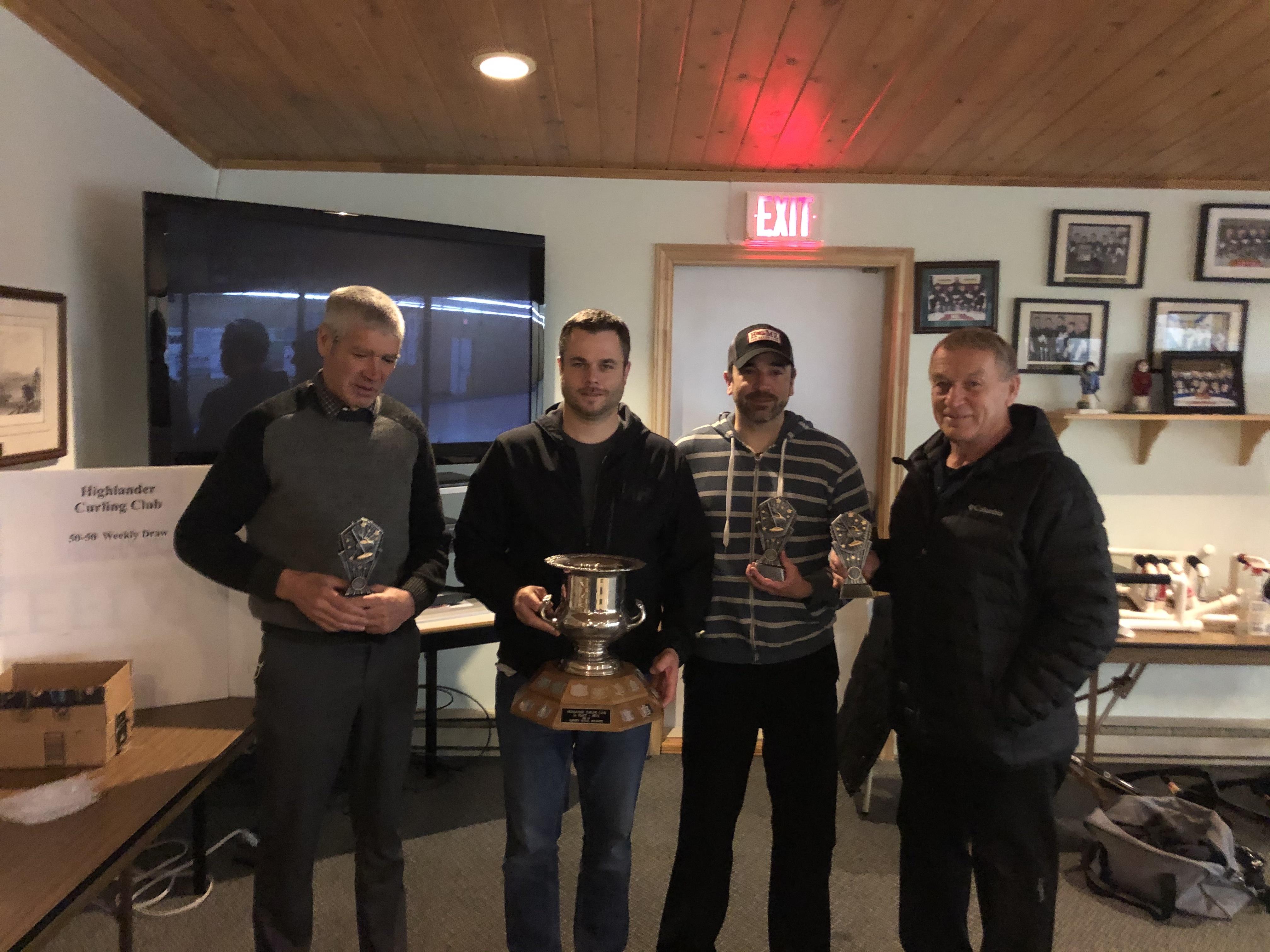 Men's League Playoff Winners Gerard Kennedy, Graeme Fraser, Steve Delorey and Fracis Overmars (sparing for Matt Berigan)