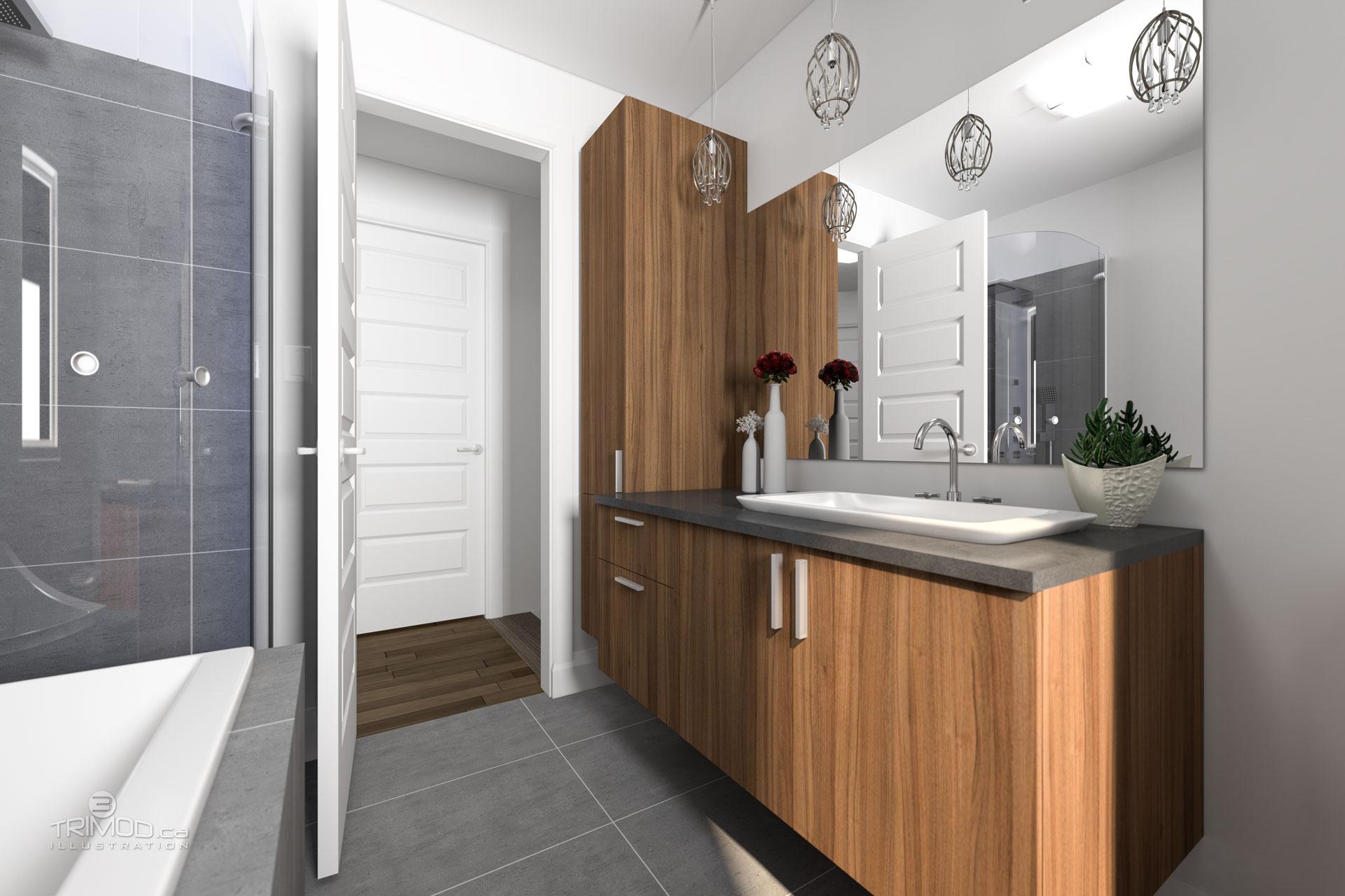 Salle de bain proposée