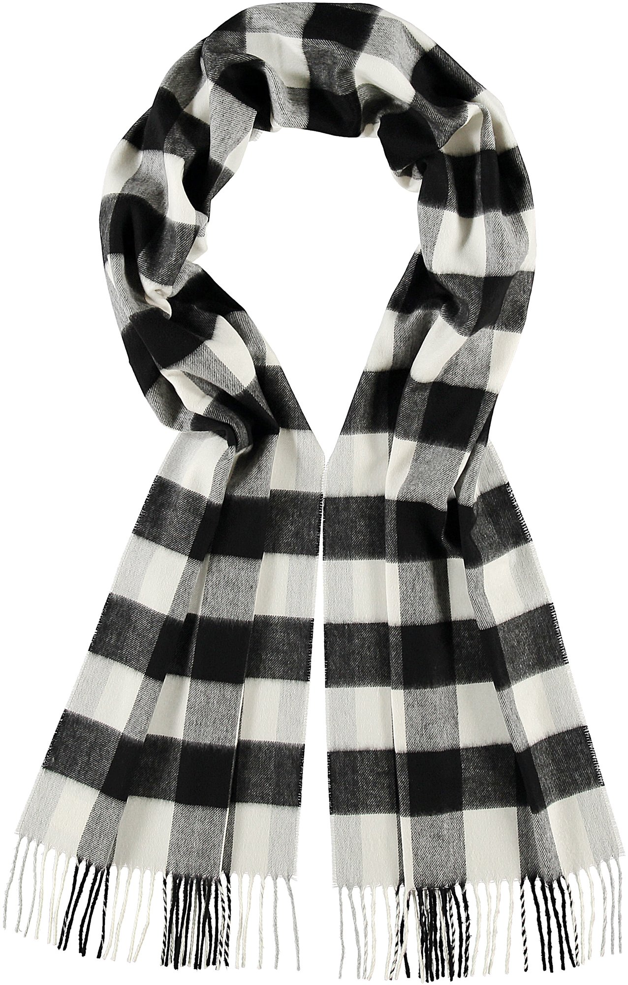 Buffalo Check in Black&White- $35.00  Cashmink, Made in Germany 771899116095