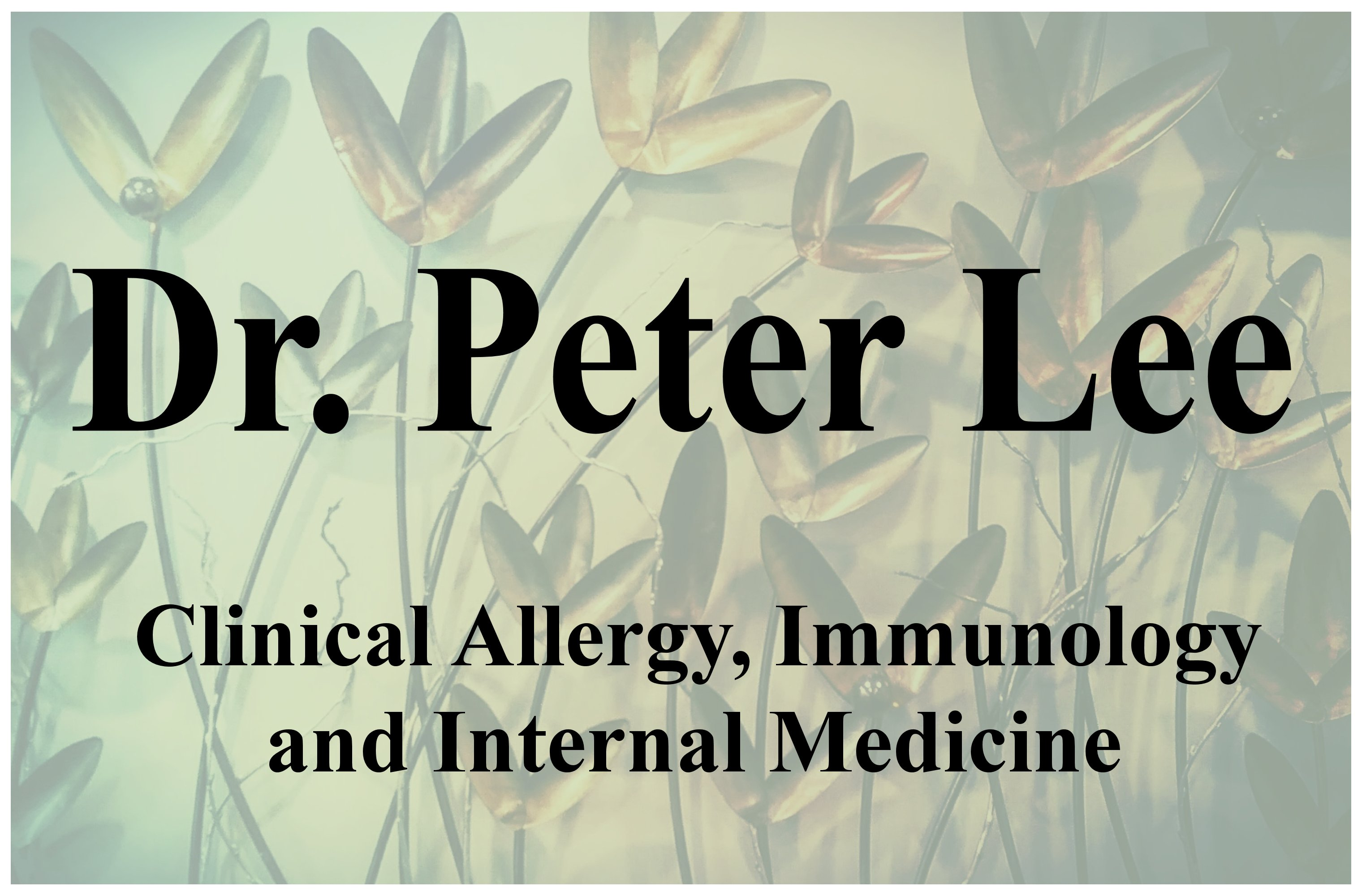 Dr. Peter Lee