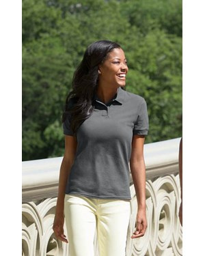 DryBlend Missy Fit Pique Sport Polo Shirt