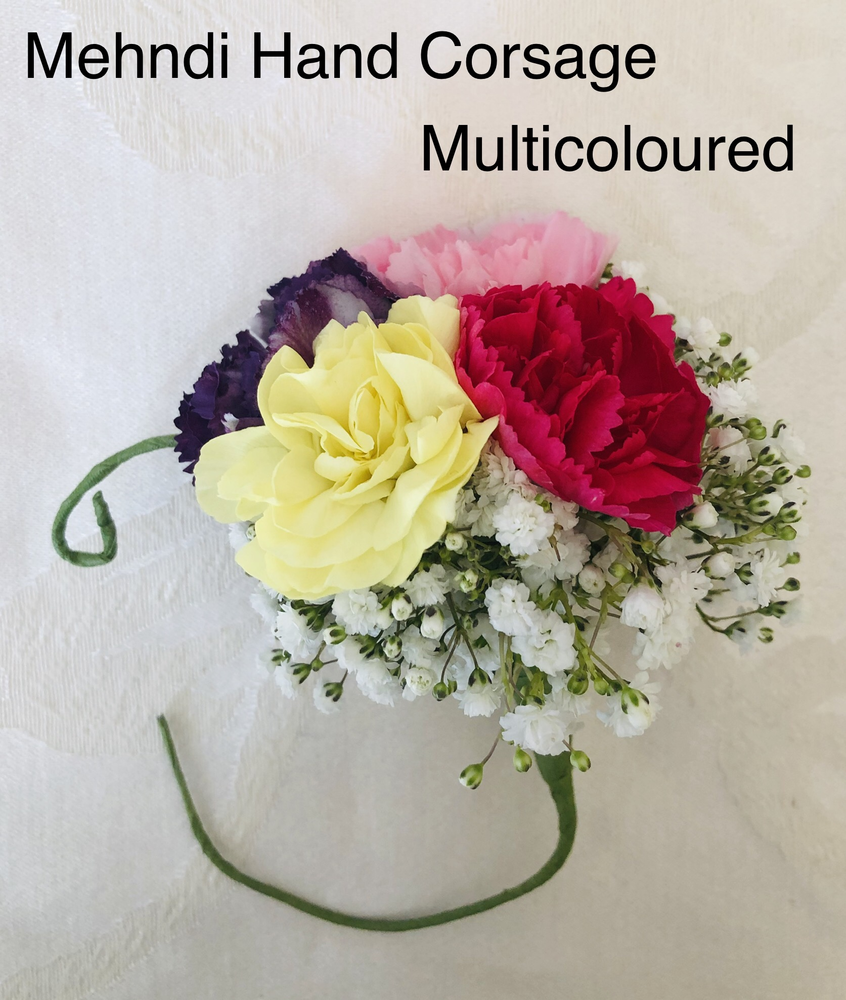 Multi coloured Hand Corsage