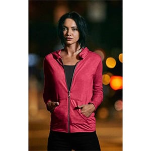 Anvil Women's Triblend Full Zip Hoodie