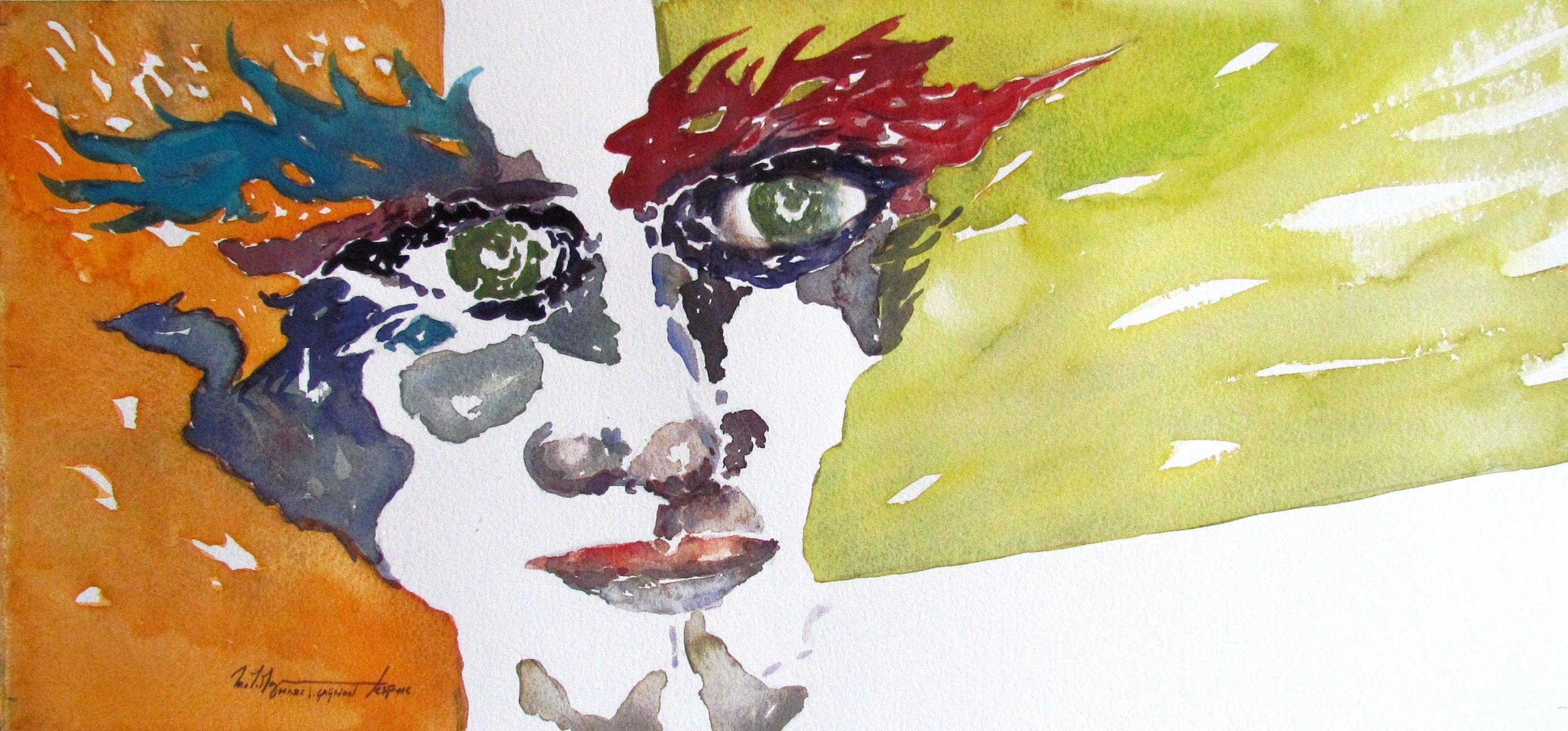 Masquerade Watercolour