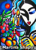 Shabbat with Challah and Cup Jewish fine art