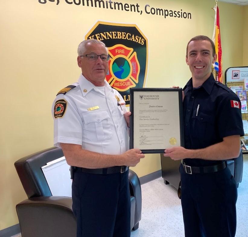 Firefighter Justin Cowan