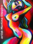 Red Nude Pose painting abstract original fine art nudes