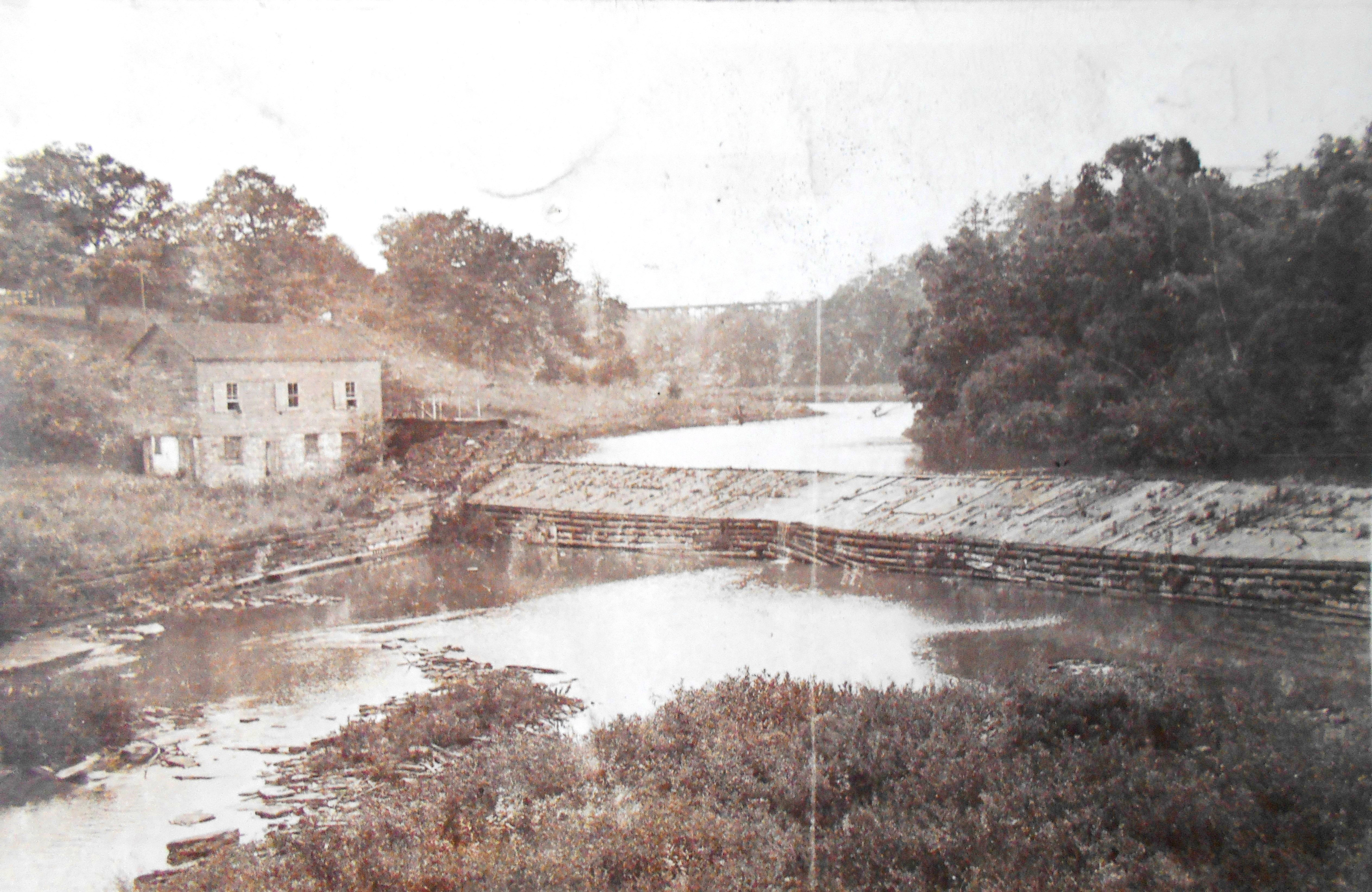 Dam on Humber River at lambton Mills - 1912