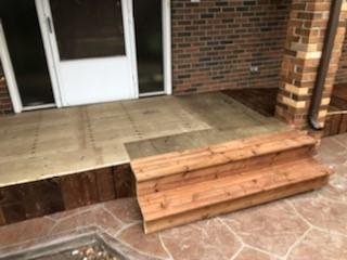 Regular steps Installed