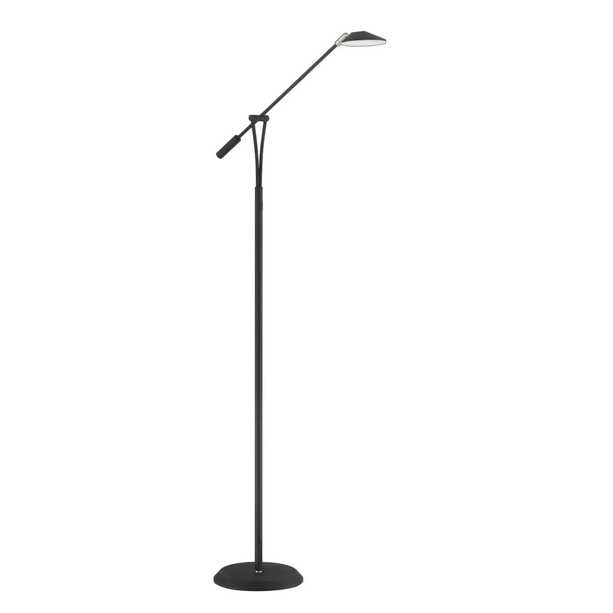 148 FL5015 BLK/SN LED Floor Lamp available in  Black with Satin Nickle  or Satin Nickle Regular Price $238.99 Sale Price $167.99