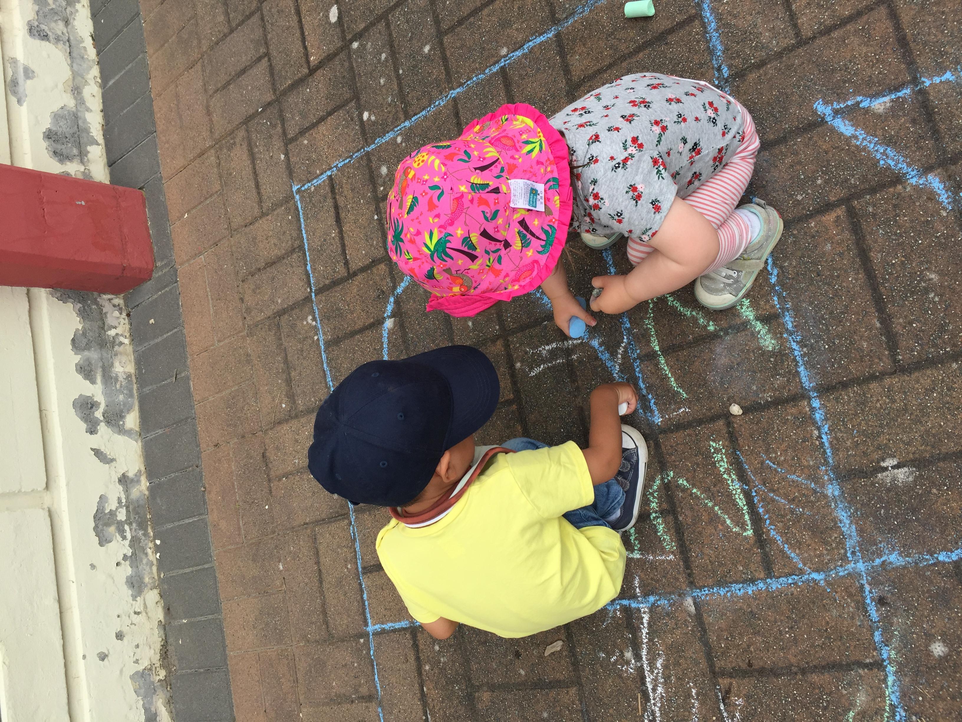 Sidewalk chalk is the best