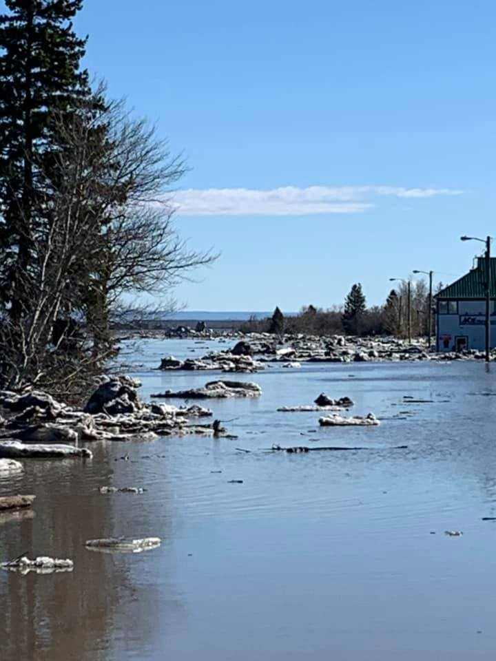 River Road flooded in 2020