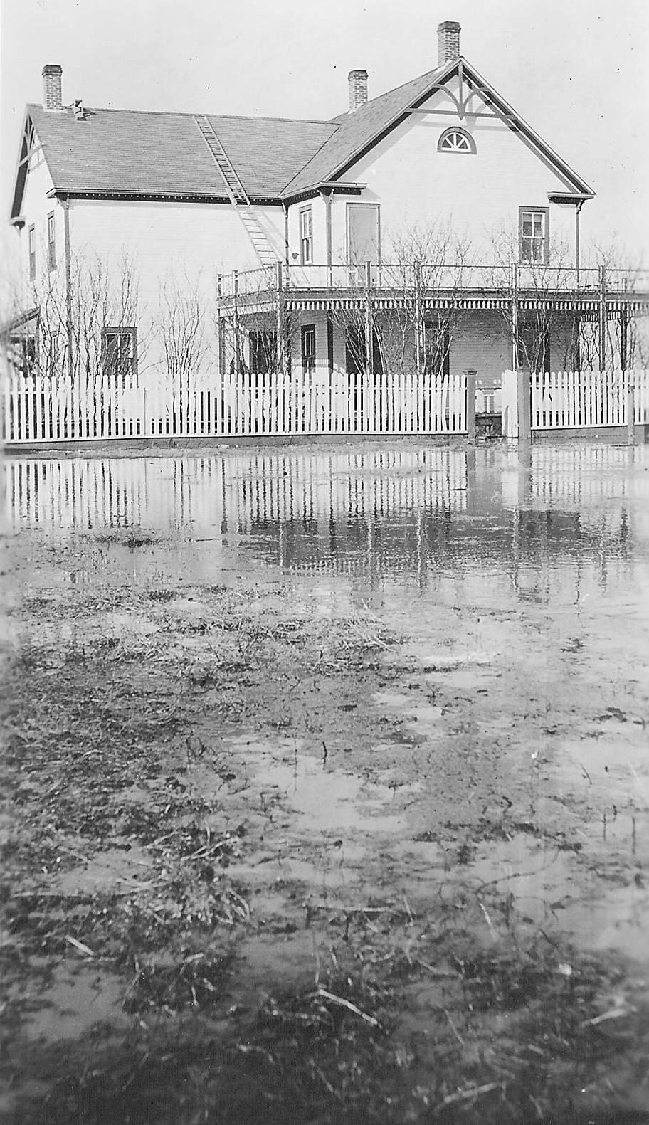 Old Bay House flooded 1934. 998.05.23.44 / Lamberton, Rev Hugh and Lillian