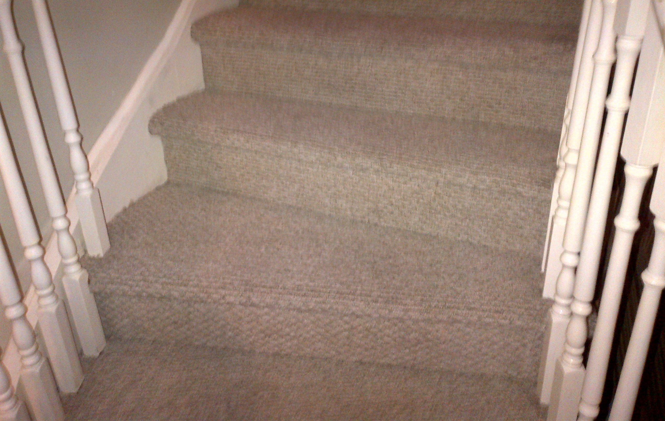 after cleaning stairs