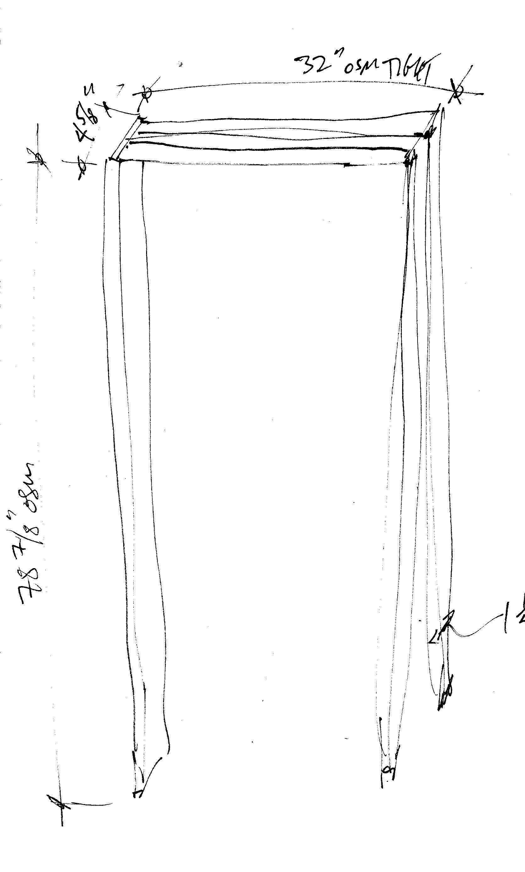 Pocket door jamb sketch