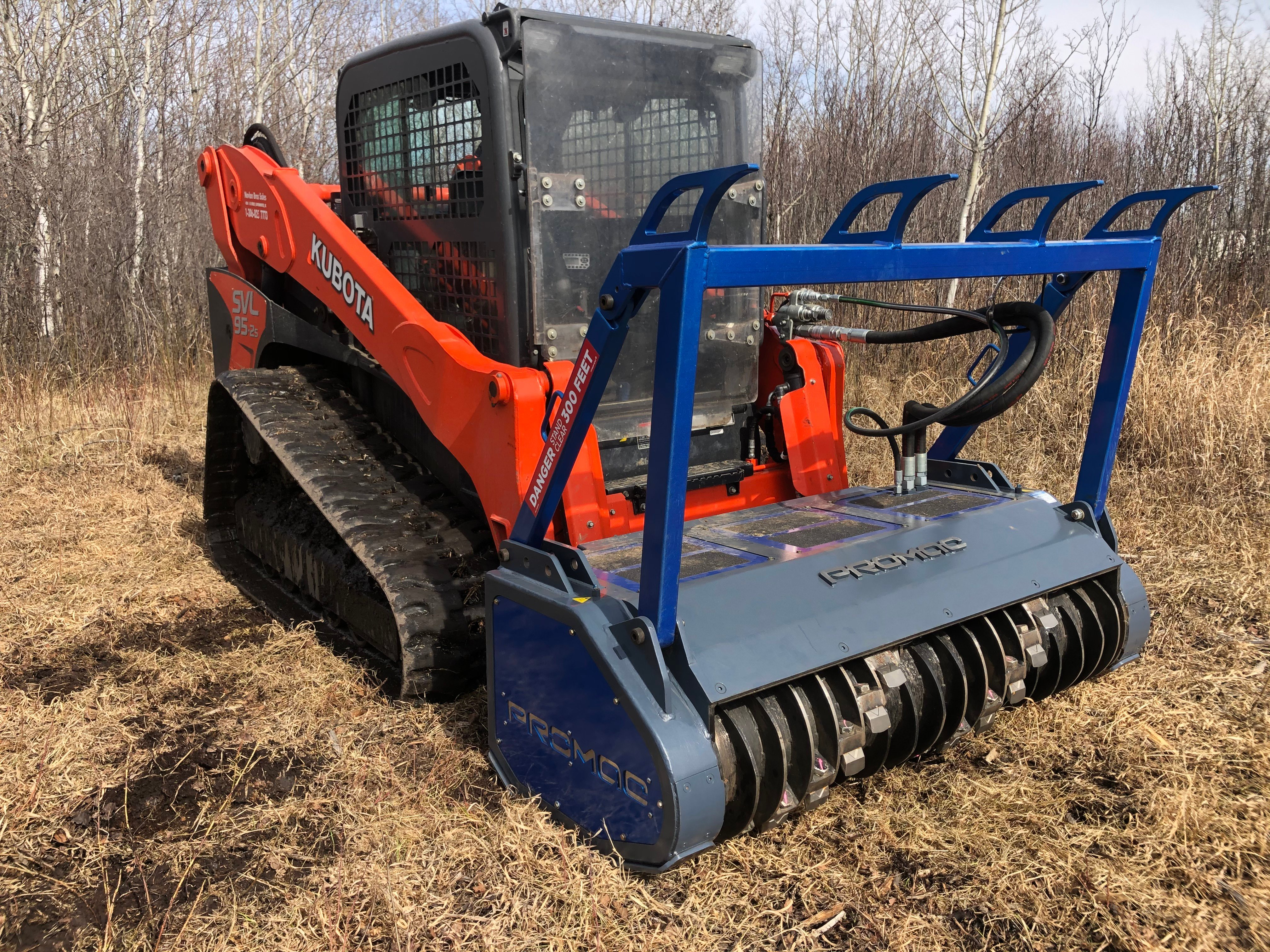 Outstanding performance from the HSS 60 mulcher when paired  with the high flow Kubota SVL95.