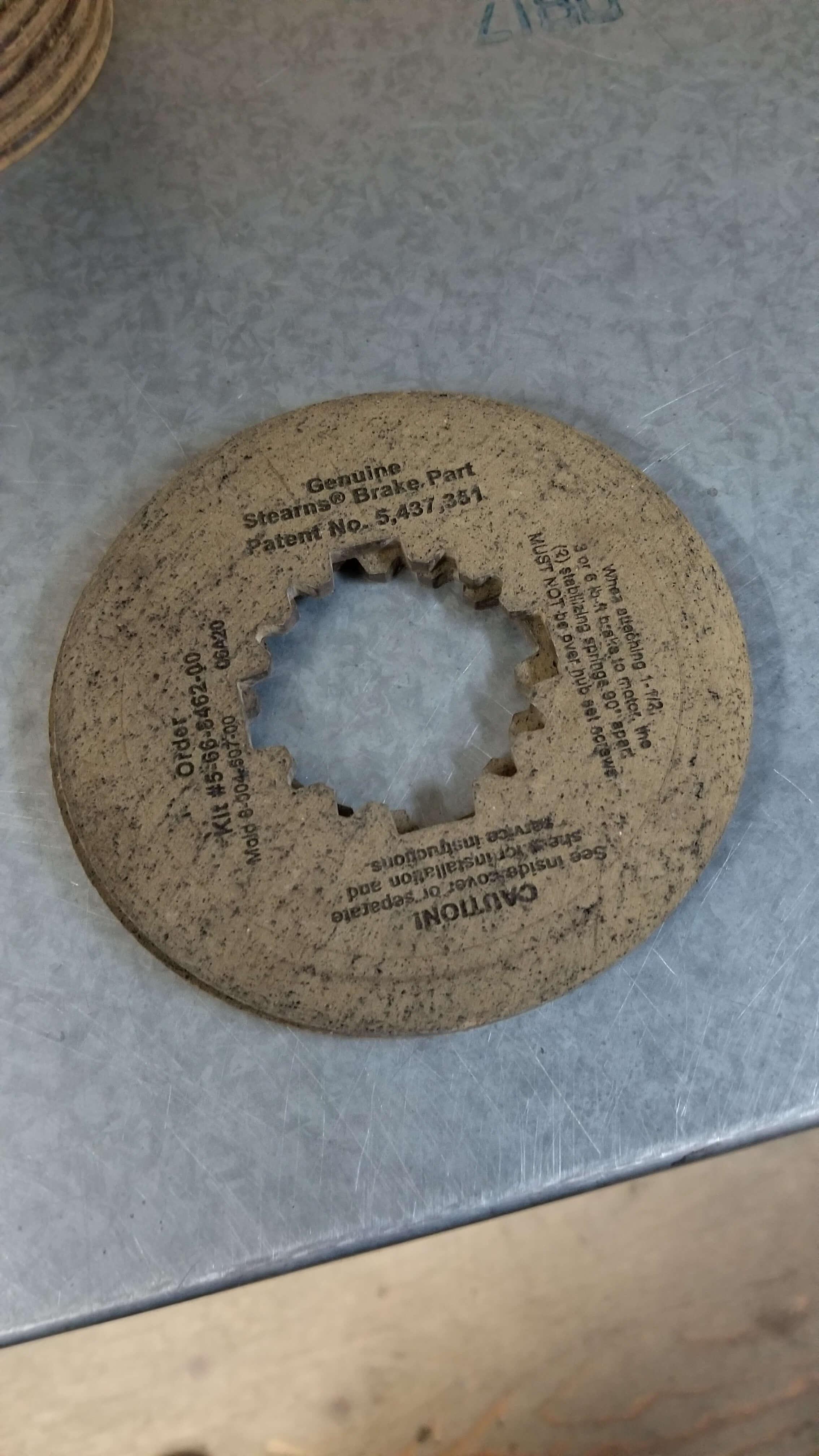 Stearns Brake Disc  P/N: 5 66 8462 00 $270.00