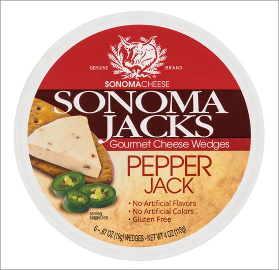 SJ114P Sonoma Jacks Gourmet Cheese Wedges - Pepper Jack 113 gr