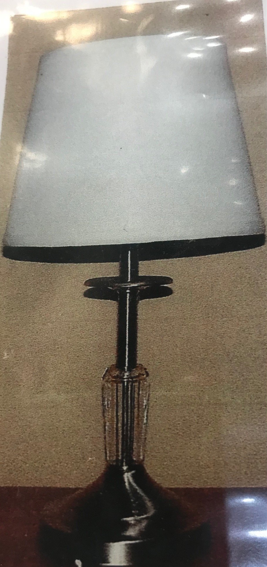 252 Table Lamp Made in Canada Available in Antique Brass  or Brushed Chrome Regular Price $109.99 Sale Price $76.99
