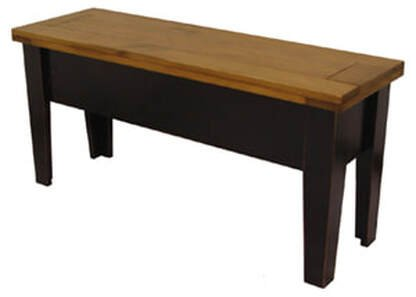 Black legs with Classic Stain Hand-planed top