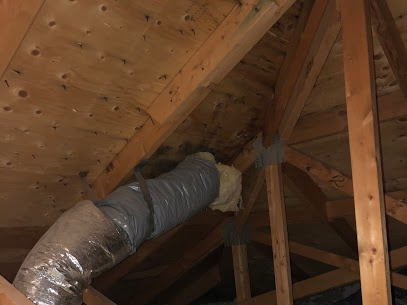 Some town homes vent their dryer through the attic and from to time time you should have venting inspection!!