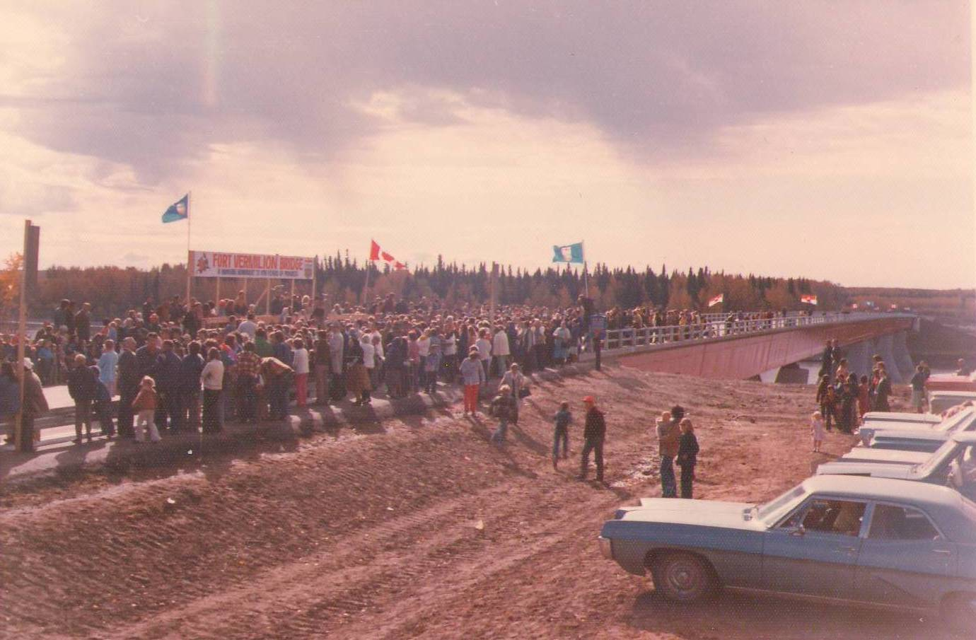Bridge opening ceremony in 1974. Photo Credit: Pearl Newman