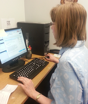 Our Blogger Stephanie Dix adding new information to the Blog