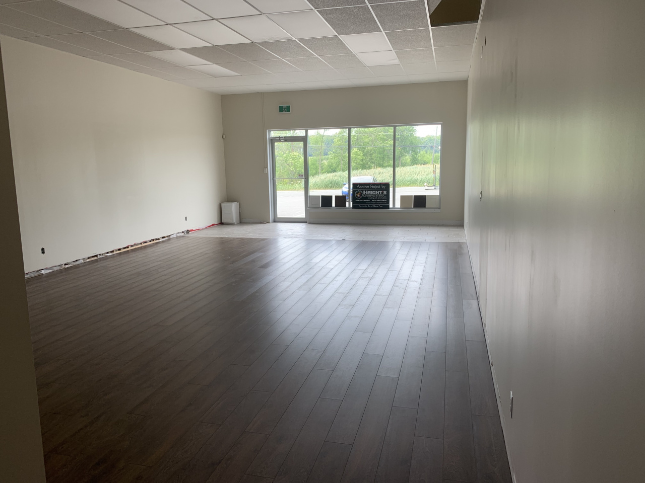 Took possession of our new office-showroom on July 2. Work to be done