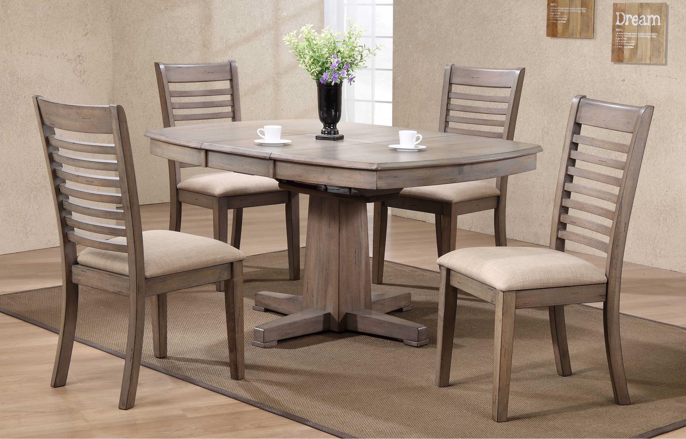 Table et 4 chaises Table 42'' x 42'' x 57'' Gris