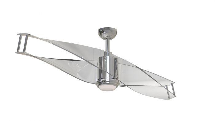 """498 ILU56PLN2 56"""" fan in polished nickel Reg. Price $747.99 Sale Price $336.99"""