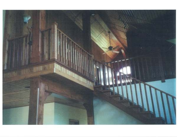 Straight ash Scandinavian style stair