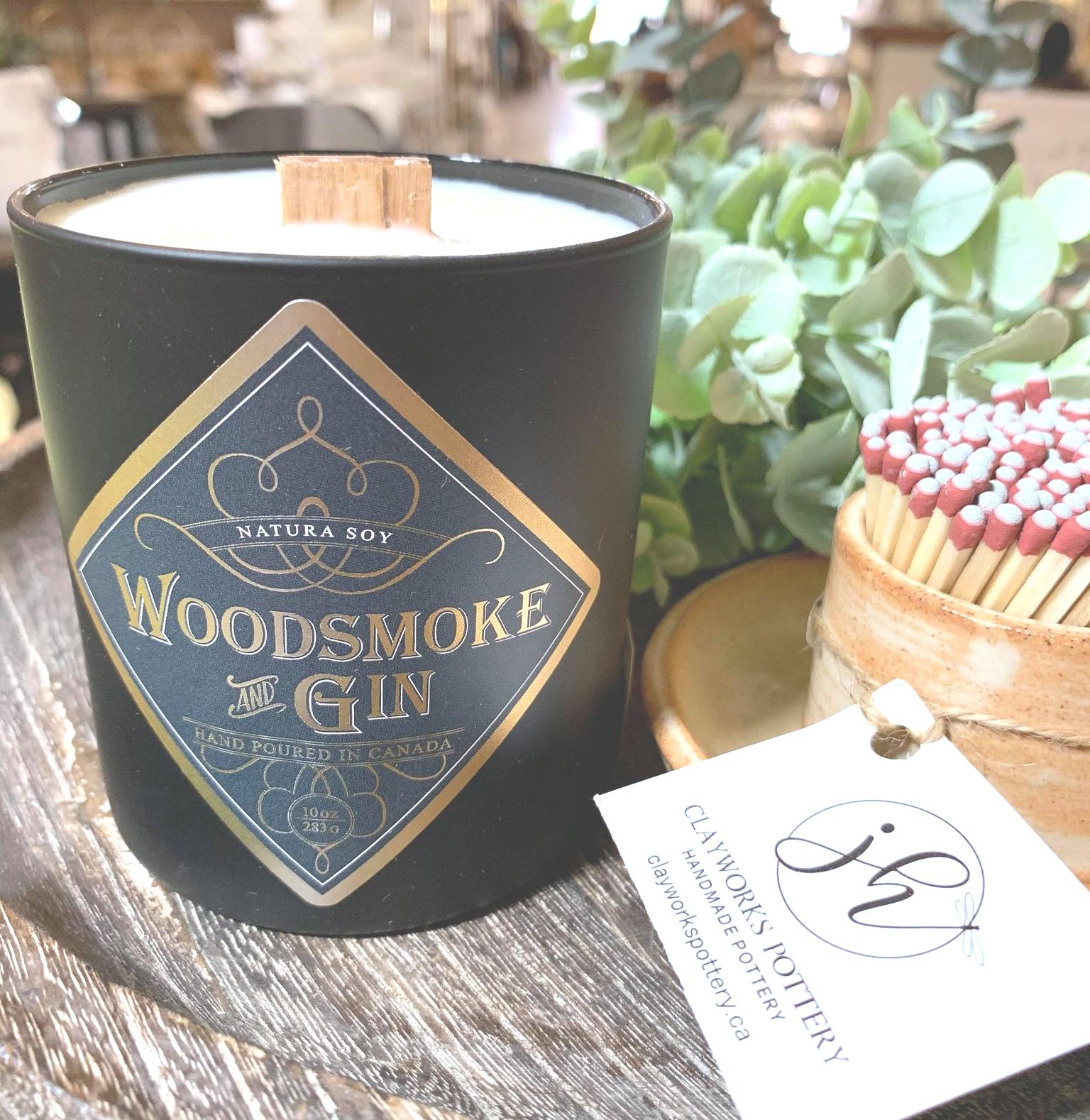 Woodsmoke & Gin Balsam Fir, Spruce and Pine balanced with Mint, Eucalyptus and Juniper Berry.