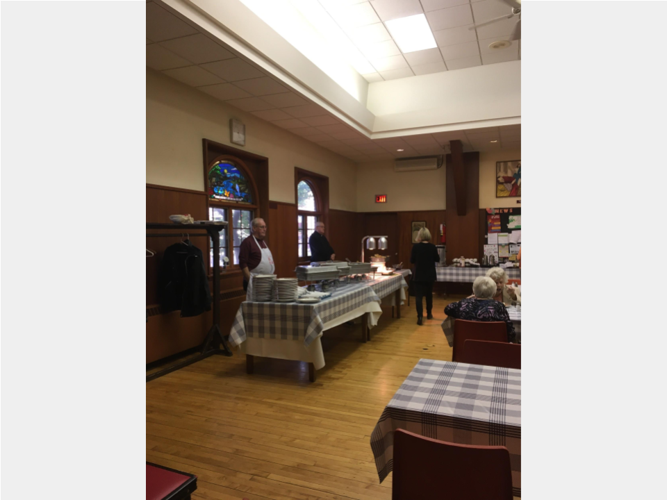2019 BAC Fall Harvest dinner - serving