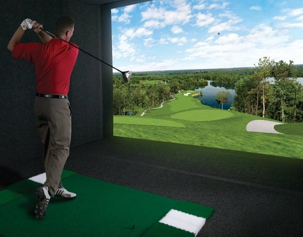 The latest in Golf Simulation!  Imagine playing on one of 100 World Class Golf Courses.  $25/hour - Book your tee time today!