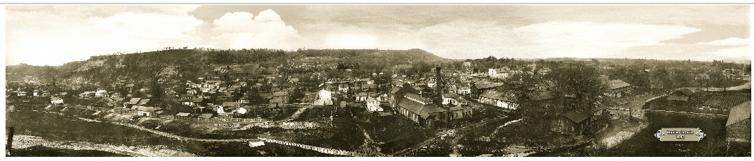 "Dundas Panoramic circa 1897 from  the ""Hogsback"" now Ormerod Close"