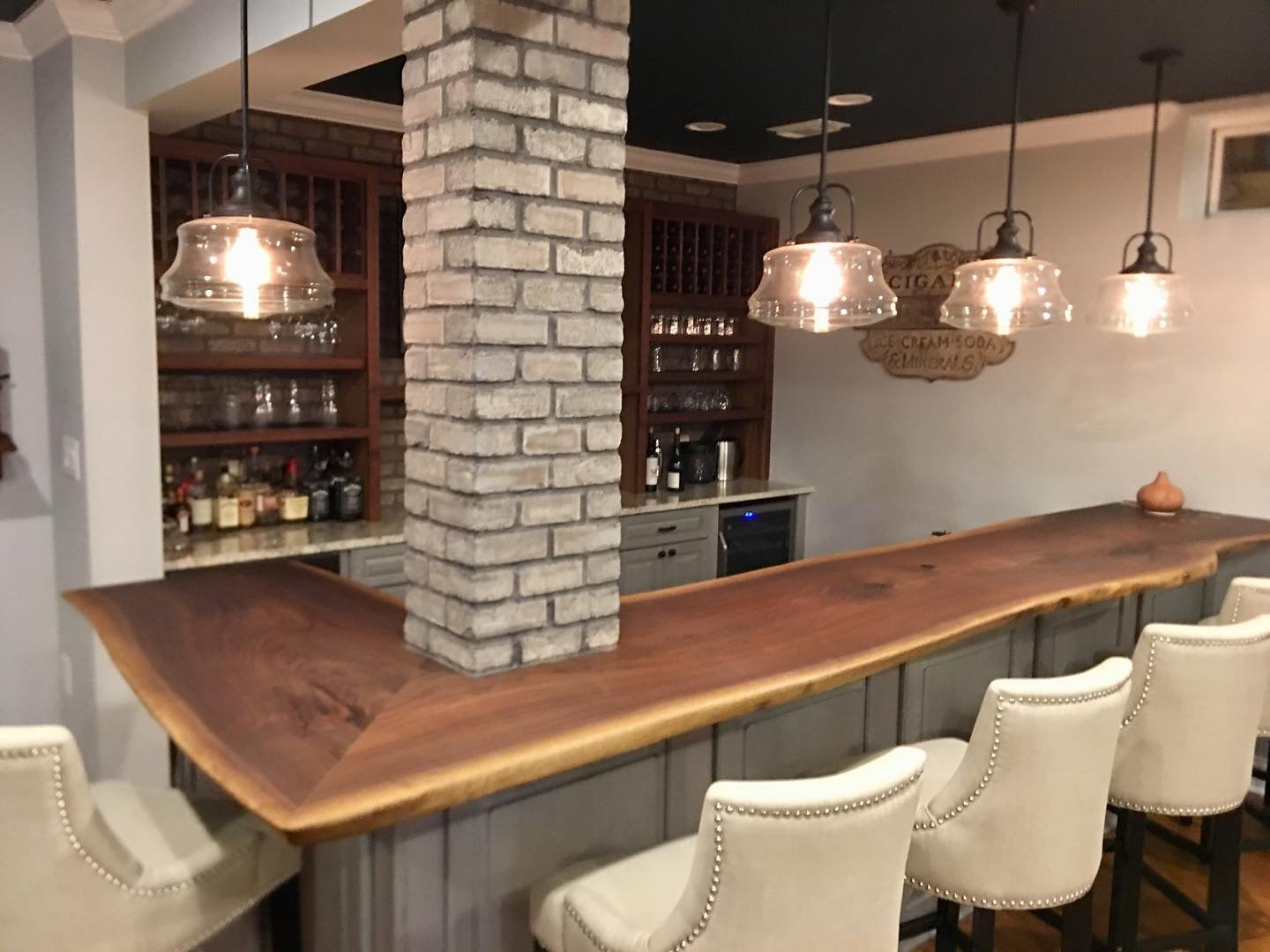 Walnut Back Bar and Bar Top