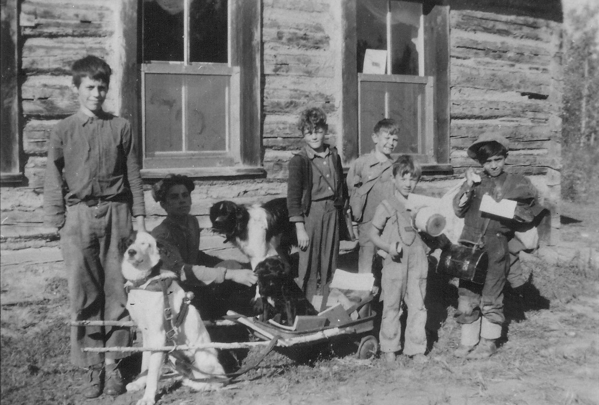 Kids at Lambert Point school in 1948.   1990.43.07 / Bailey,  G. Cook