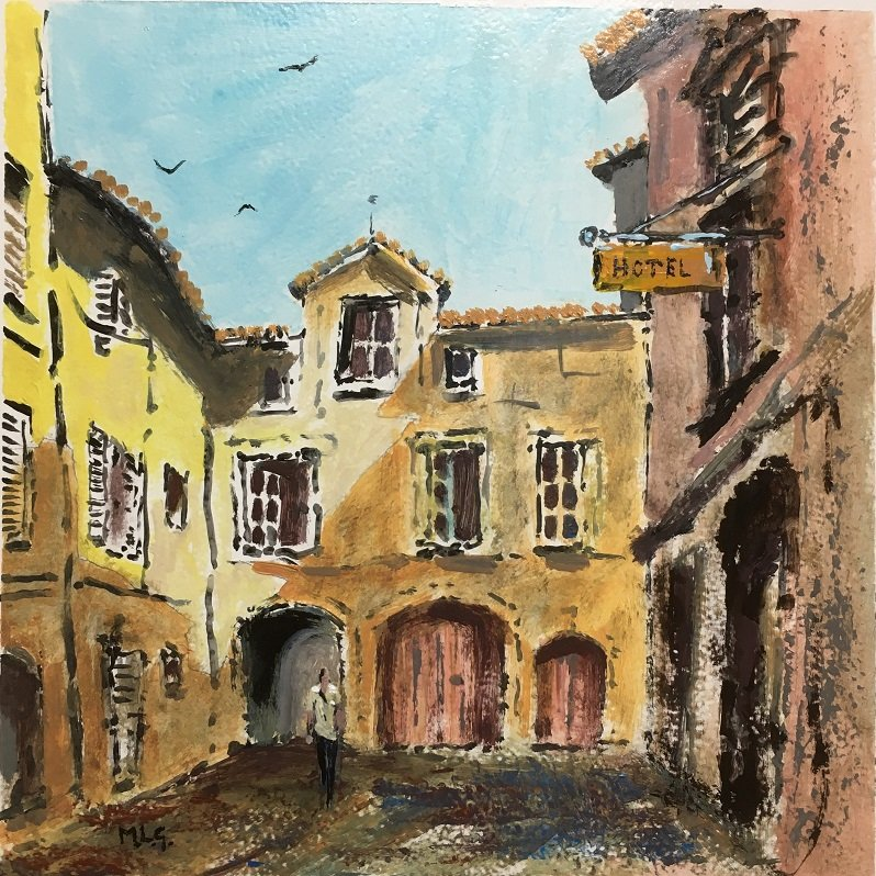 Court Yard in Avignon Acrylic