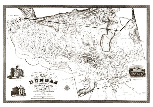 1851 Dundas Map - reprint