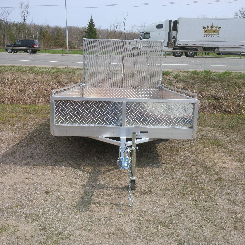 6 x 12 aluminum trailer with 4' ramp